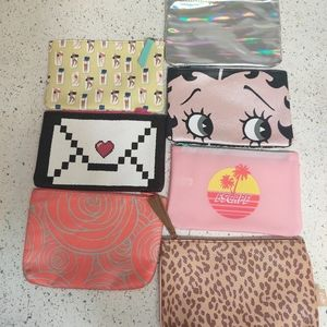 7 ipsy cosmetic makeup bags bundle